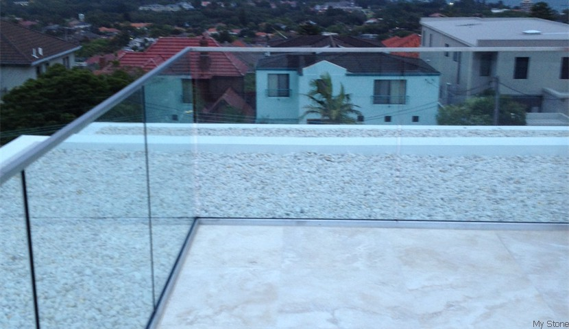 Light Travertine Balcony
