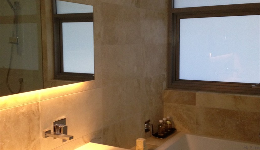Medium Travertine Bathroom